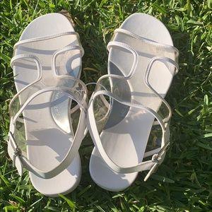 BCBGMAXAZRIA White/Clear Sandals